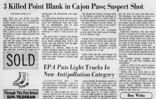 3 killed at Point Blank Range (cont), Al Stewart, The Sun 10 March 1973 -