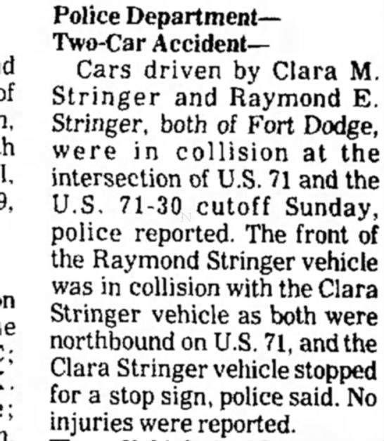 Clara and Raymond were married -
