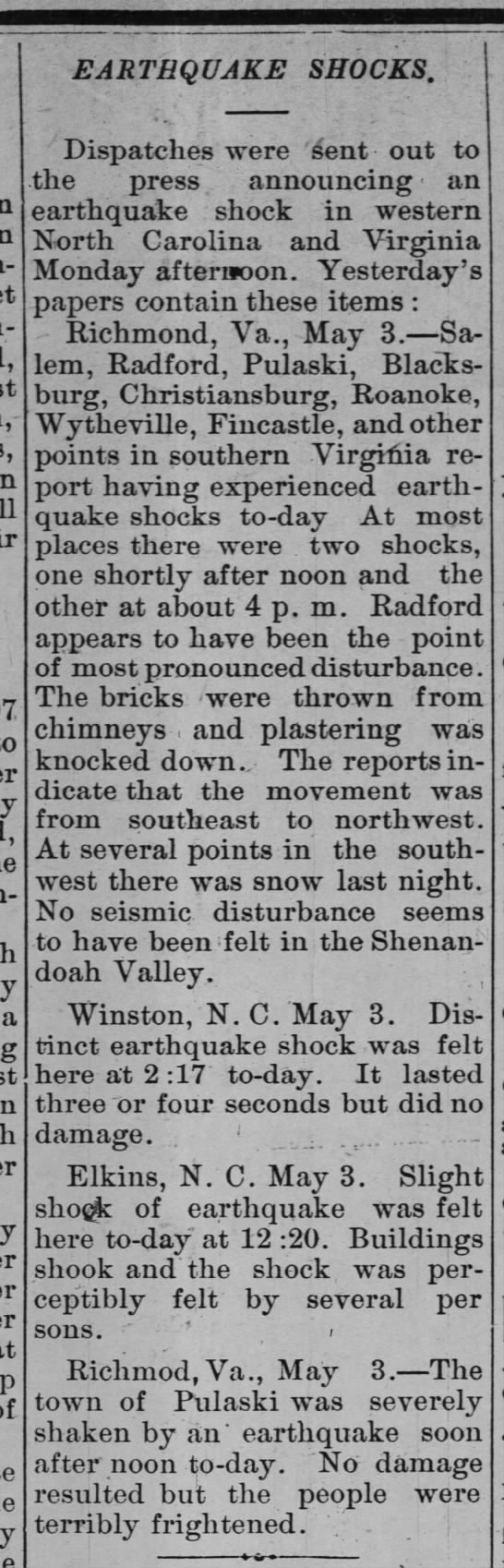 05 May 1897 County Union (Dunn, NC), p.2. -