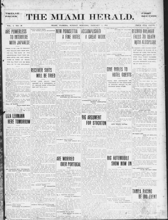 The Miami Herald - January 1, 1911 -