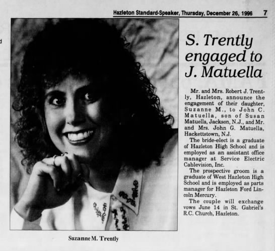 Suzanne Trently Matuella 12-26-1996 - Hazleton Standard-Speaker, Thursday, December...