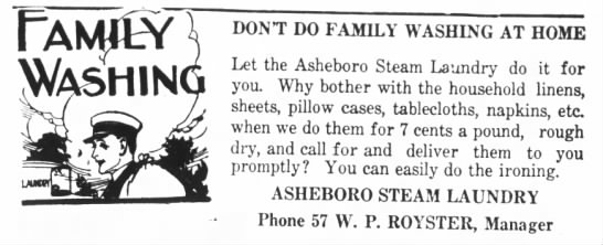 Oh the Good Ole Days in Asheboro... -