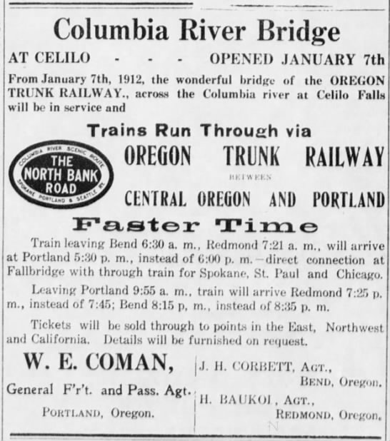 The Times-Herald Burns, Oregon  January 20, 1912 -