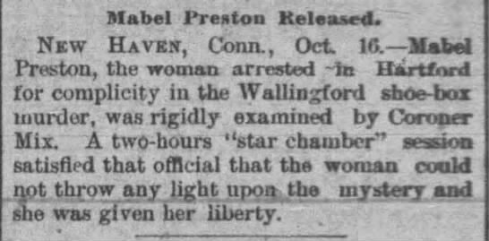Mabel Preston released -