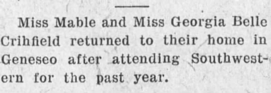 Mabel & GB Newspaper Clipping 1916 -
