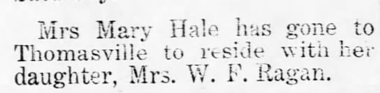 mary hill hale -
