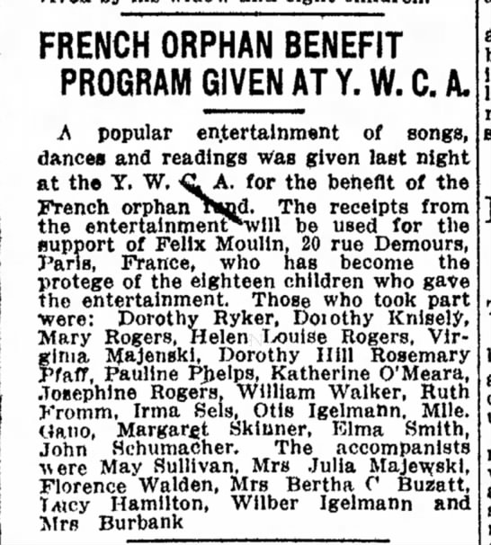 1917 26 May French Orphan Benefit -