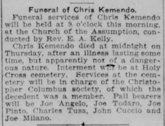 Chris Kemedo obituary  - Newspapers com