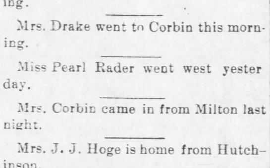 19 Jun 1905 Wellington, KS -