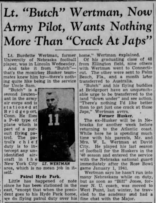 1942 Butch Wertman feature -