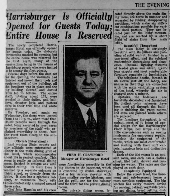 19300801 - harrisburger hotel - evening news page 13 -