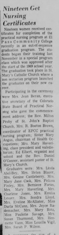 Susan Thurmond, 11-22-1970 Colorado Springs Telegraph -
