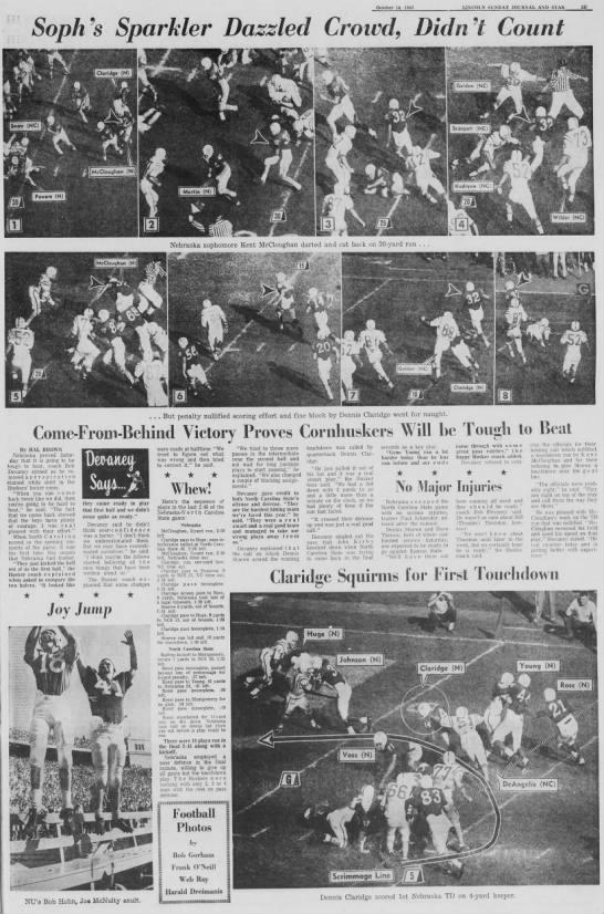 1962 Nebraska-NCState photos -