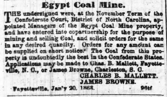 1864 Egypt taken over by Conf. govt. -