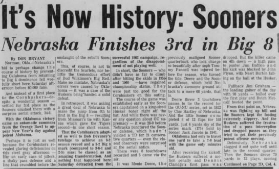 1962 Nebraska-Oklahoma part 1 -