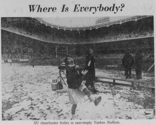 1962 Gotham Bowl photo of stadium -