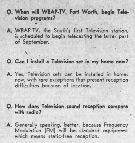 First television station arrives in Fort Worth - 1948 -