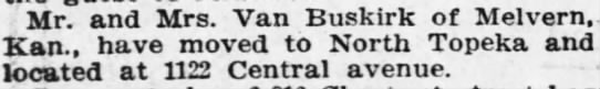 Topeka Daily capital sept 15 1909 pg 9 van buskirk move from melvern (Max?) -