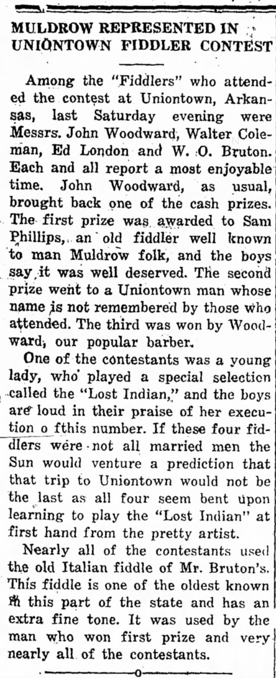 The Muldrow Sun July 2, 1926 -