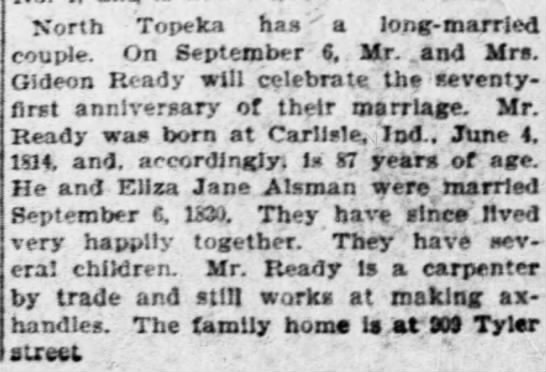 Topeka (Kansas) Daily Capital, 8 Aug 1901 -