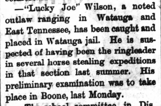 Lucky Joe Wilson in jail -