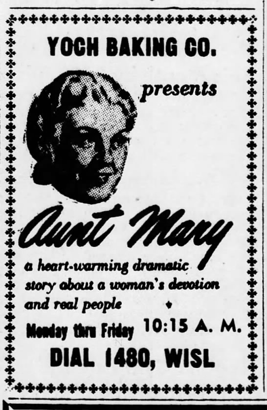 WISL 6-1-53 Aunt Mary -