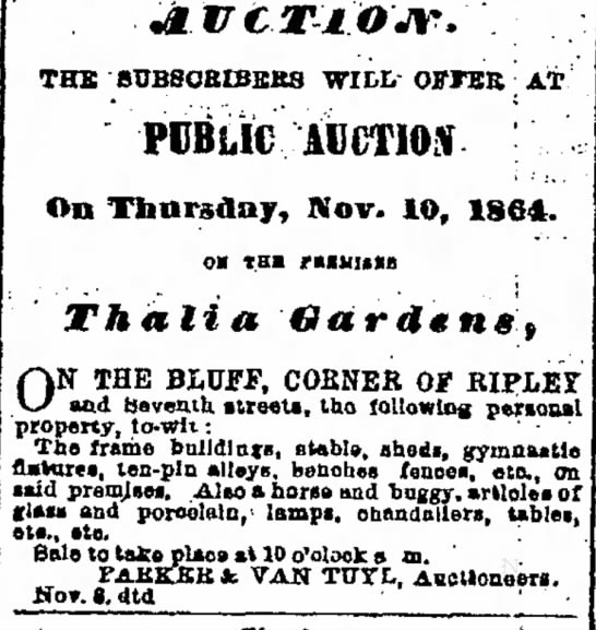Thalia auction 1864 -