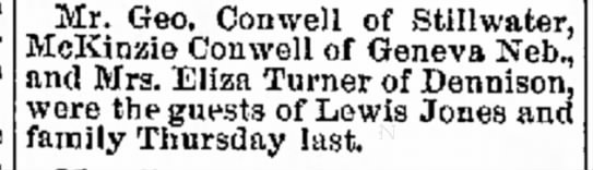 Conwell's visiting - 1888 -