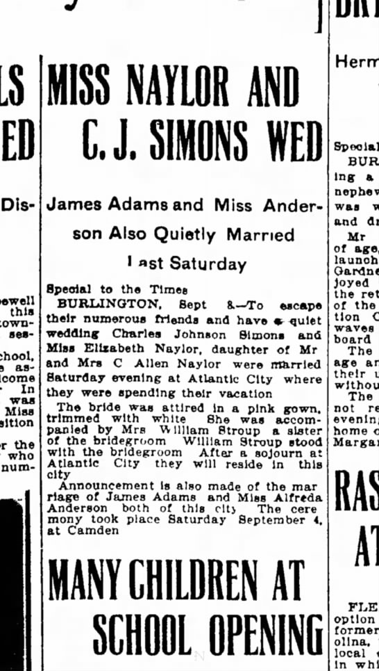 8 Sept. 1909, Trenton Evening Times, page 13 -