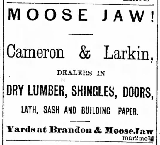 Charles Larkin's lumber business in Manitoba -