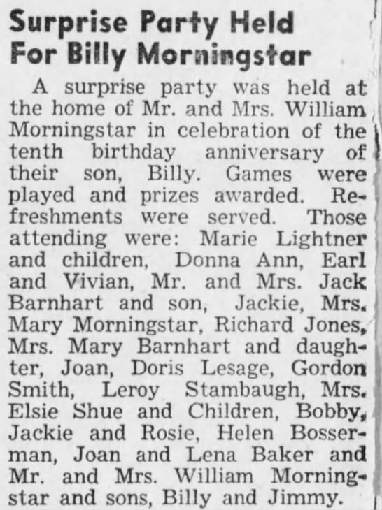 Elsie Shue - 1943 - mentions Elsie and children Bobby, Jackie and Rosie -