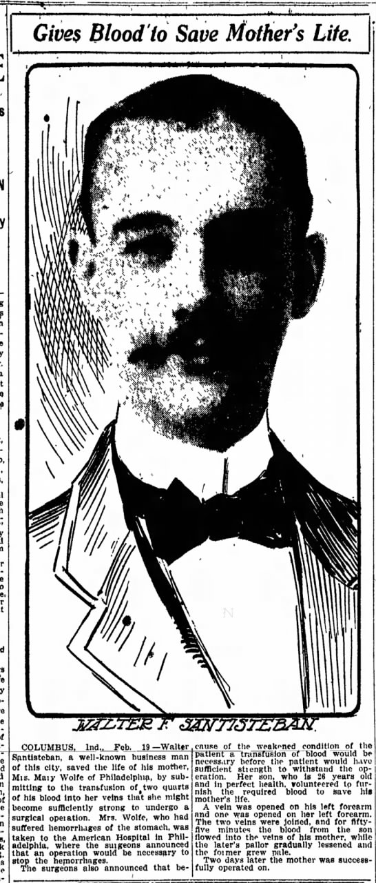 1911 Feb 20 Indianapolis Star Walter Santisteban -