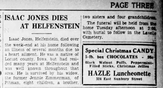 Isaac Jones Obituary -