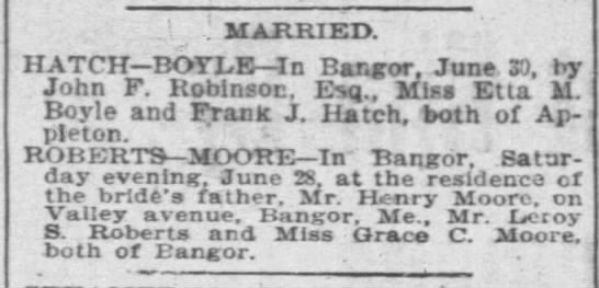 Marriage announcements - 1902 -