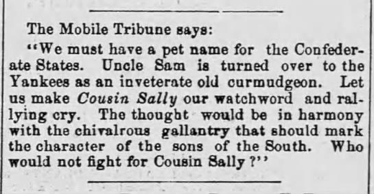 Cousin Sally (1861). -