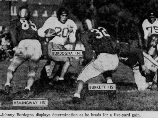 1951 John Bordogna photo, Nebraska vs Iowa State football -