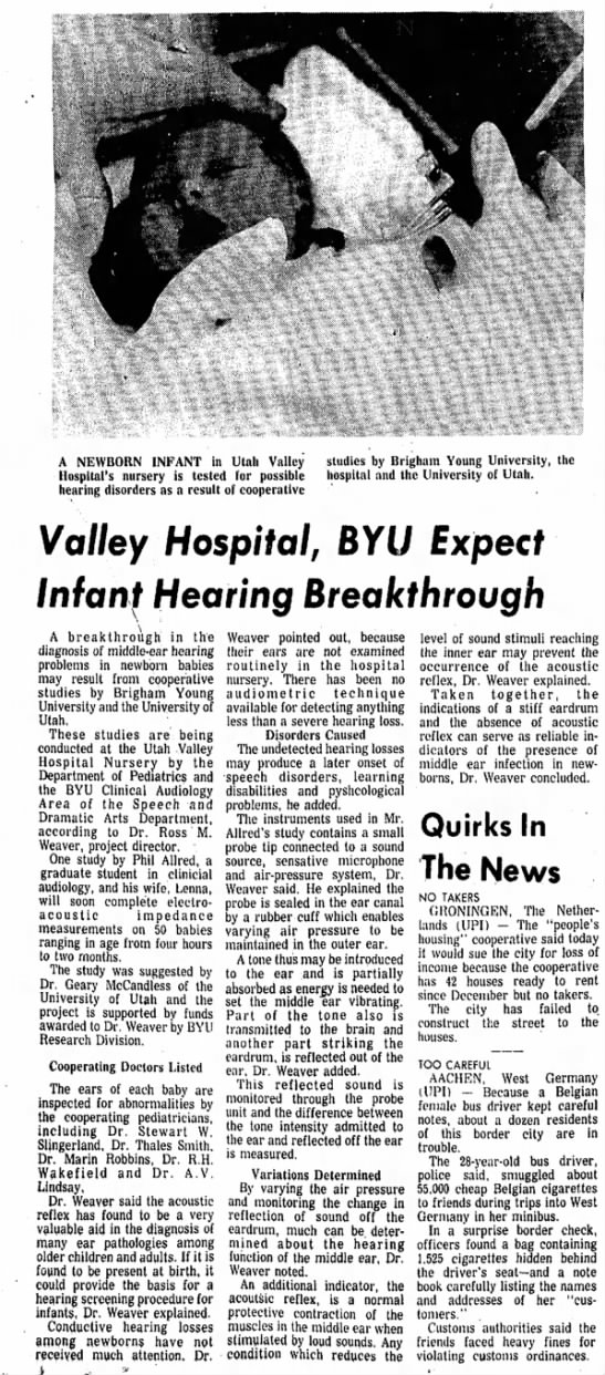 Thales smith & BYu - A NEWBORN INFANT in Utah Valley Hospital's...