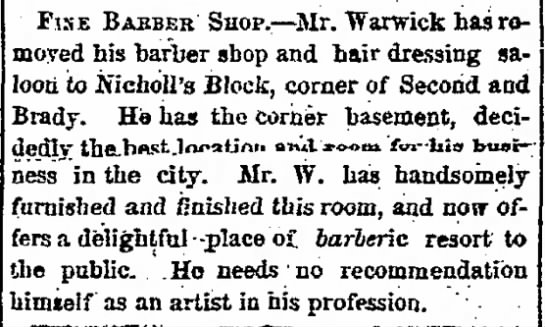 Warwick barber shop -