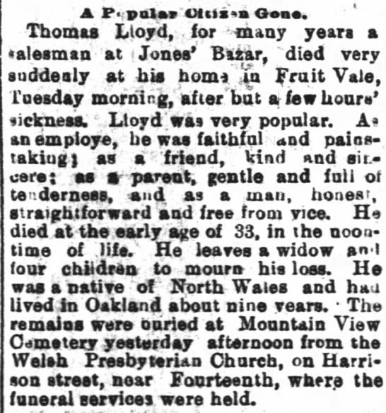 Thomas Lloyd obit -