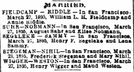 marriage Henry & Maud -