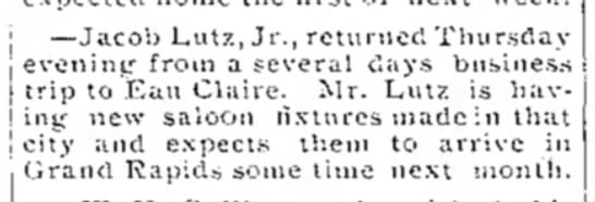 jacob lutz, jr. 1899 -