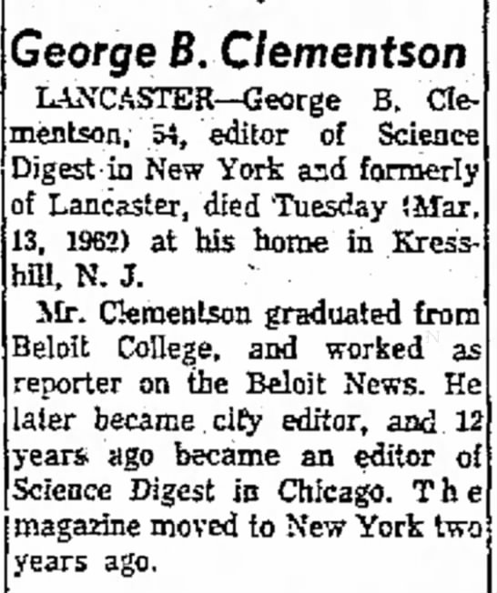 George Barber Clementson (1907-1962) -