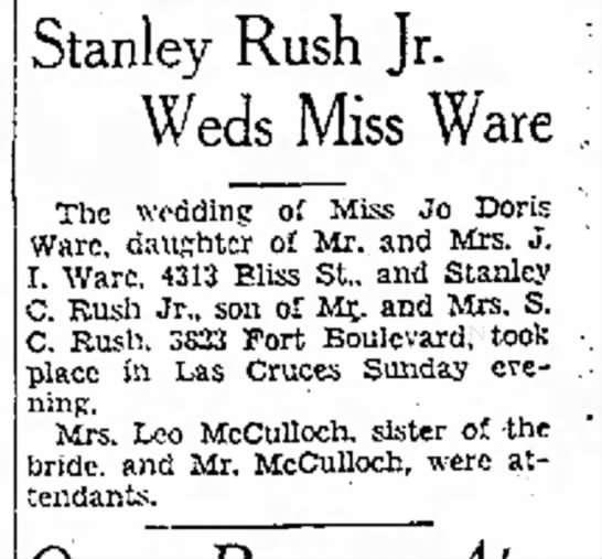 Jo Ware first marriage -
