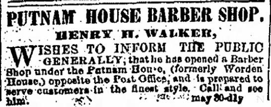 Henry Walker barber -