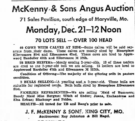 McKenny & Sons sale -