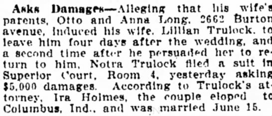 Lillian trulock, Indianapolis Star, Ind, pg 12, Aug 18, 1911 -