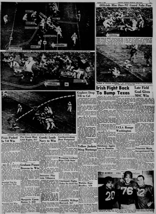 1952 Nebraska-Iowa State photos -