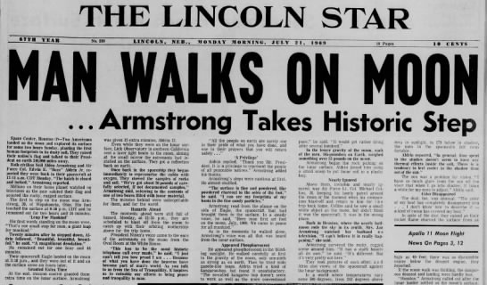 The First Moon Walk Hits the Papers -
