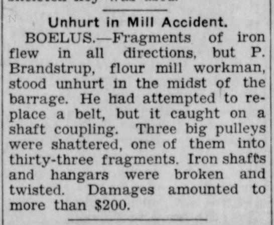 P Brandstrup 5 February 1935 Lincoln Evening Journal -