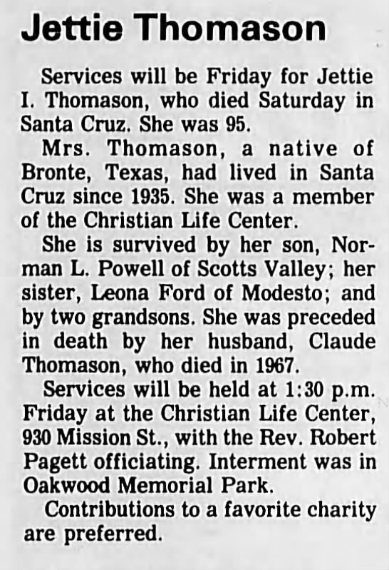 From The Santa Cruz Sentinel, 11th of November 11th, 1987 Santa Cruz, CA -